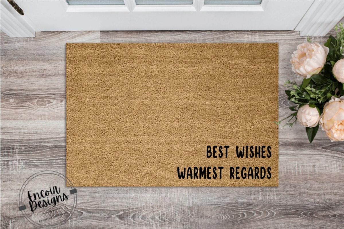 Best Wishes, Warmest Regards Welcome Mat