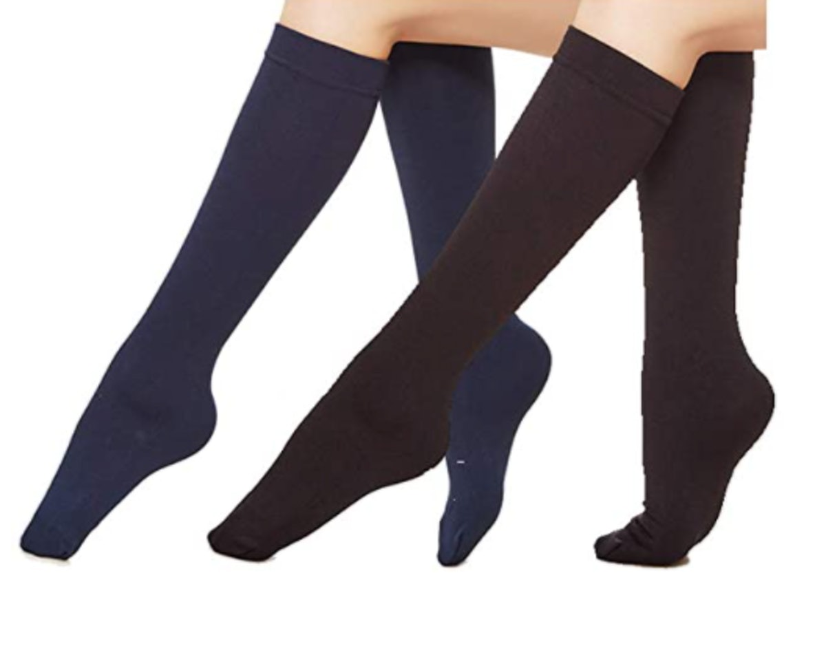 Eabern Opaque Fleece-Lined Trouser Socks (6-Pack)