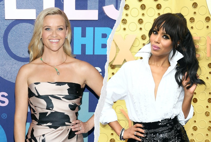Reese Witherspoon and Kerry Washington split image