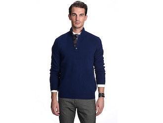 State Cashmere Quarter Collar Pullover