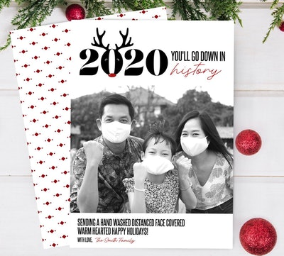 COVID Christmas Photo Card
