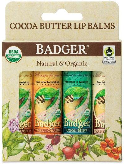 Badger - Cocoa Butter Lip Balm Set