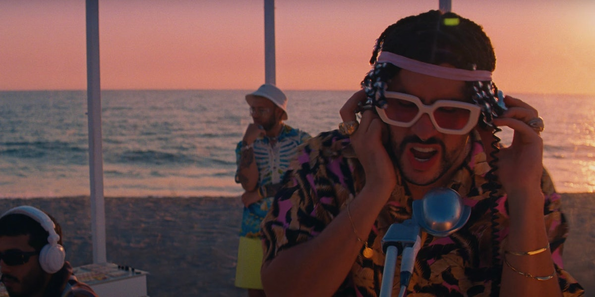 """Bad Bunny and Jhay Cortez appear in the """"Dakiti"""" video."""