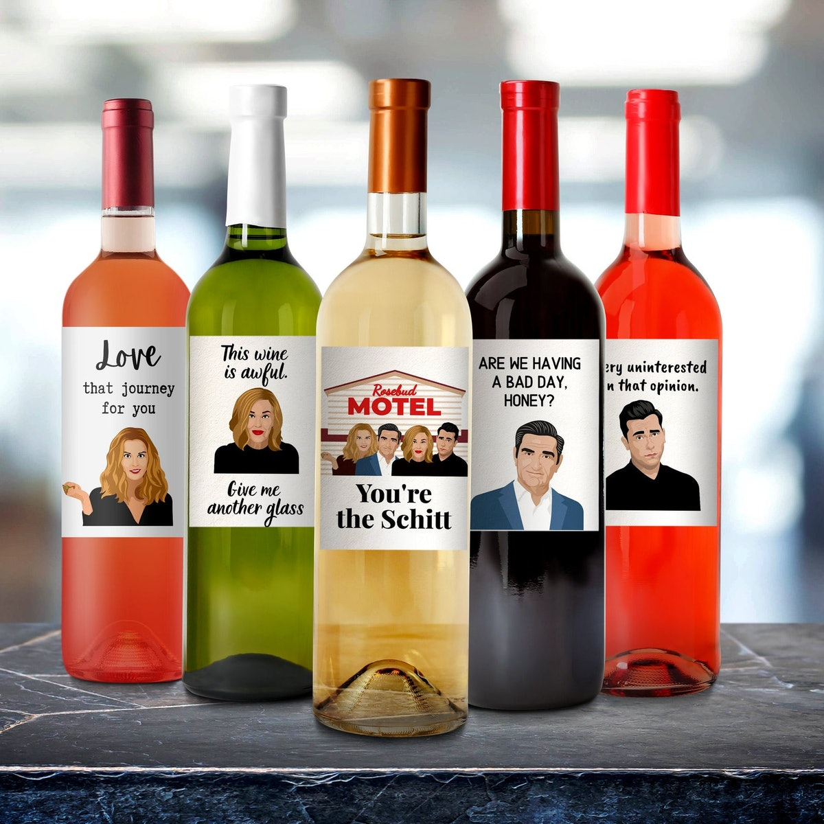 Schitt's Creek Quote Wine Labels