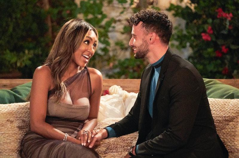 Brendan and Tayshia on 'The Bachelorette,' via ABC press site.