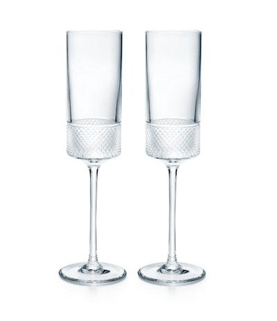 Diamond Point Champagne Flute Set