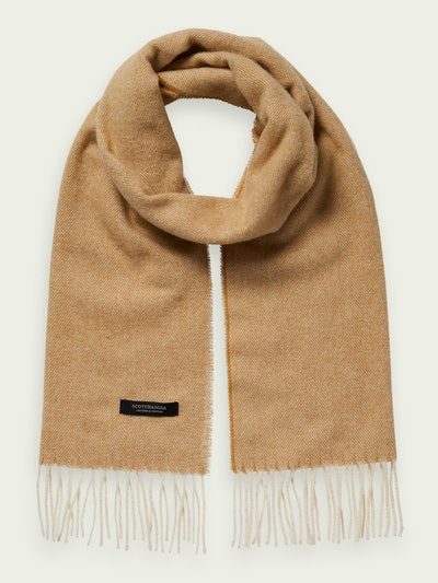 Unisex Wool-Blend Fringe Scarf