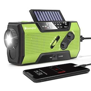 RunningSnail Solar Crank NOAA Weather Radio