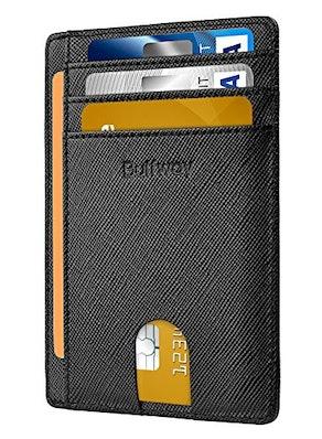 Buffway RFID-Blocking Leather Wallet