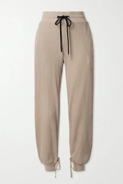 Stark Waffle-Knit Cotton-Blend Track Pants