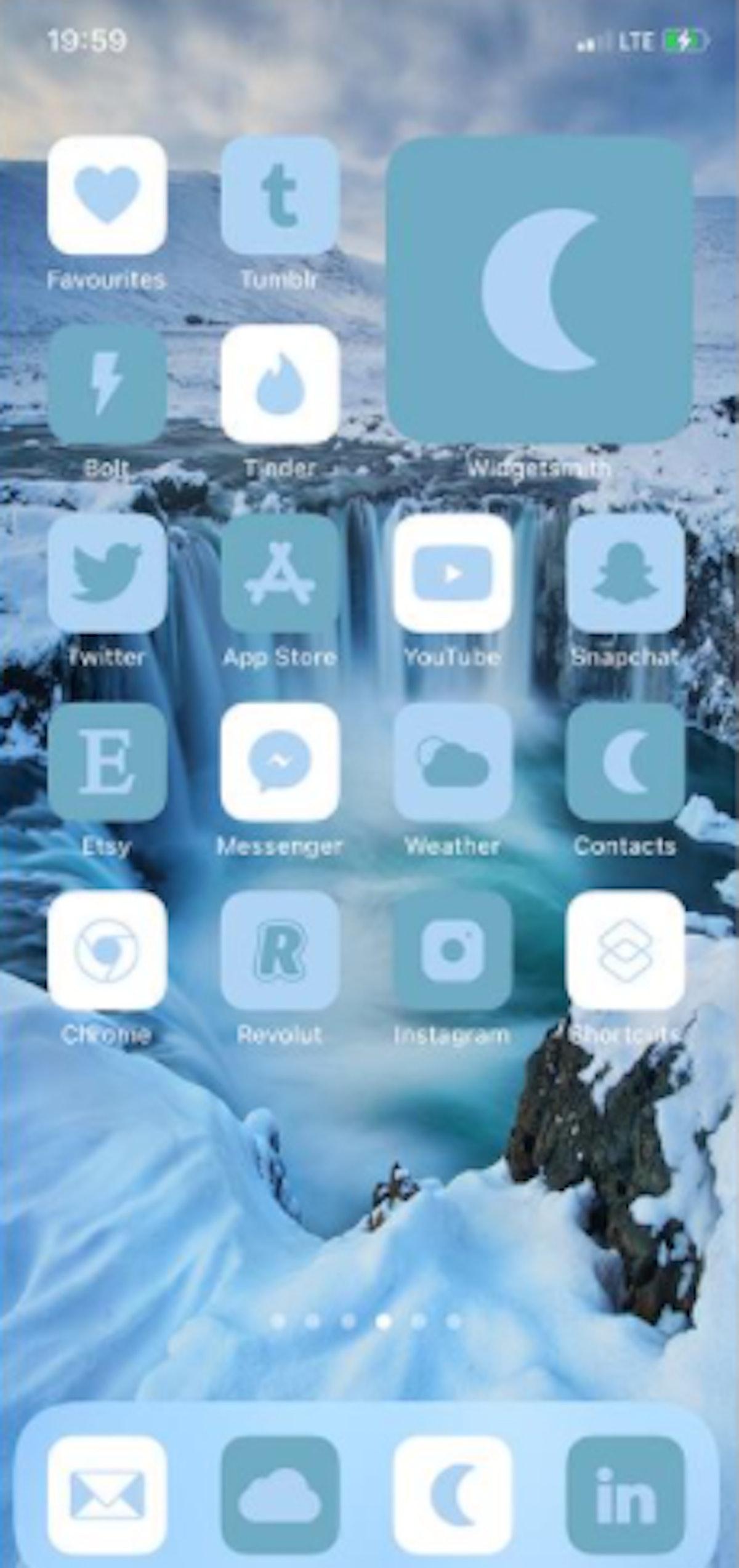 Icelandic Winter iOS 14 Home Screen Theme