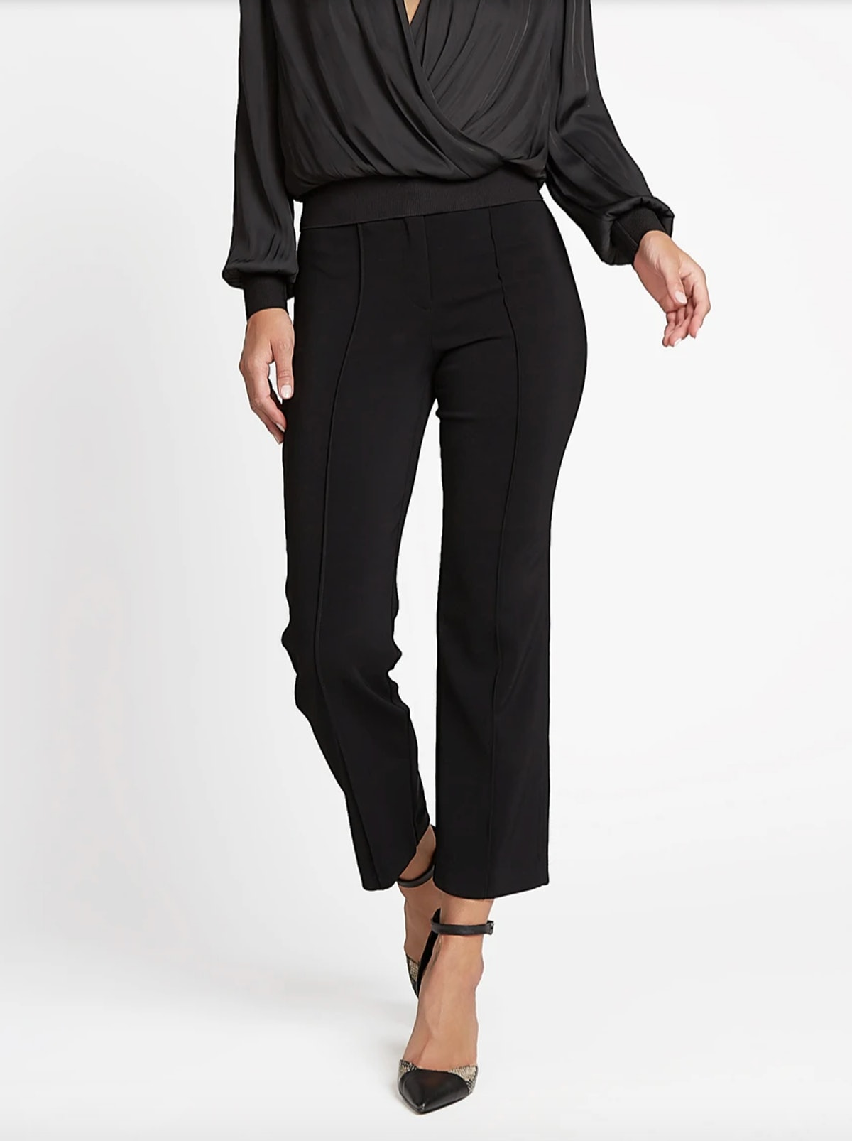 Cropped Woven Flared Pants
