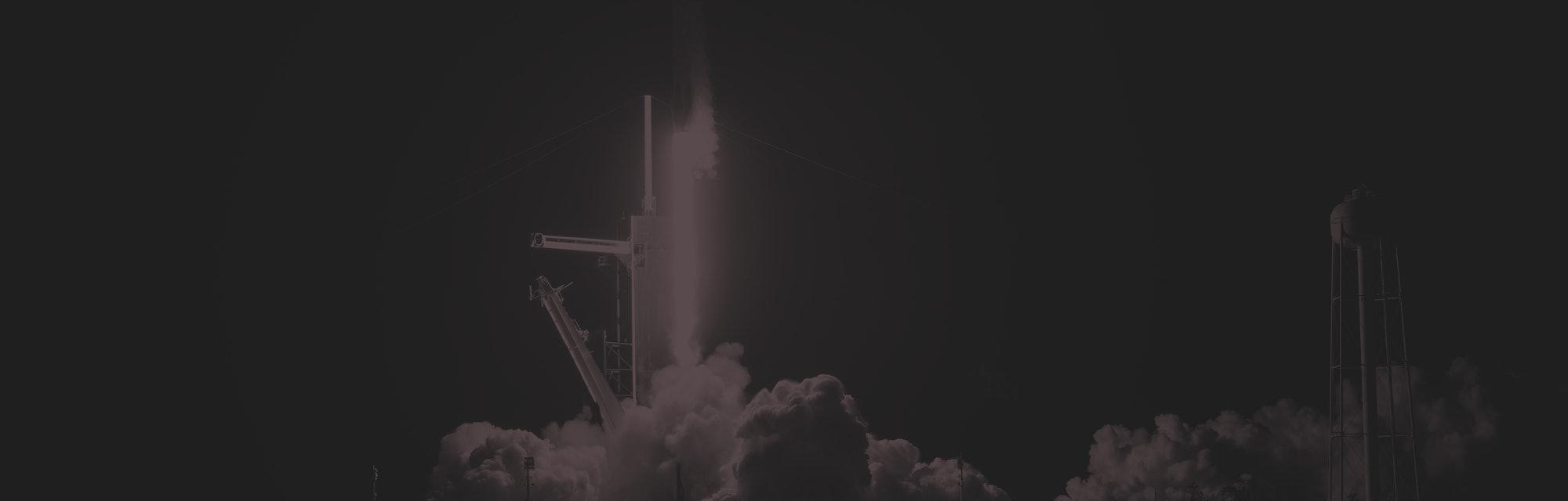 SpaceX Crew Dragon liftoff