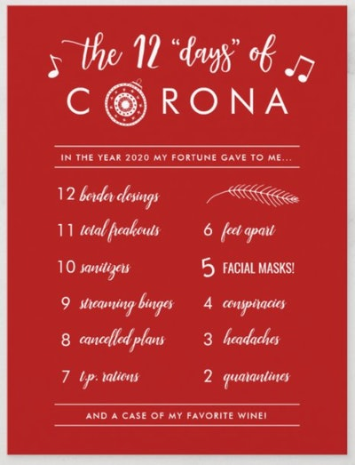 Twelve Days of Corona