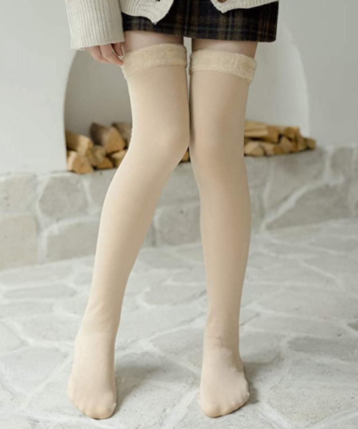 Romastory Over-the-Knee Fleece-Lined Socks