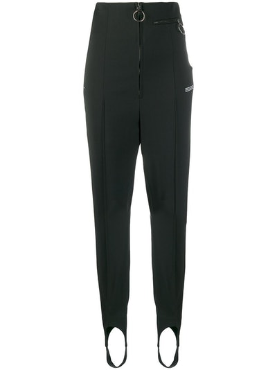 Zip-Front Slim-Fit Trousers