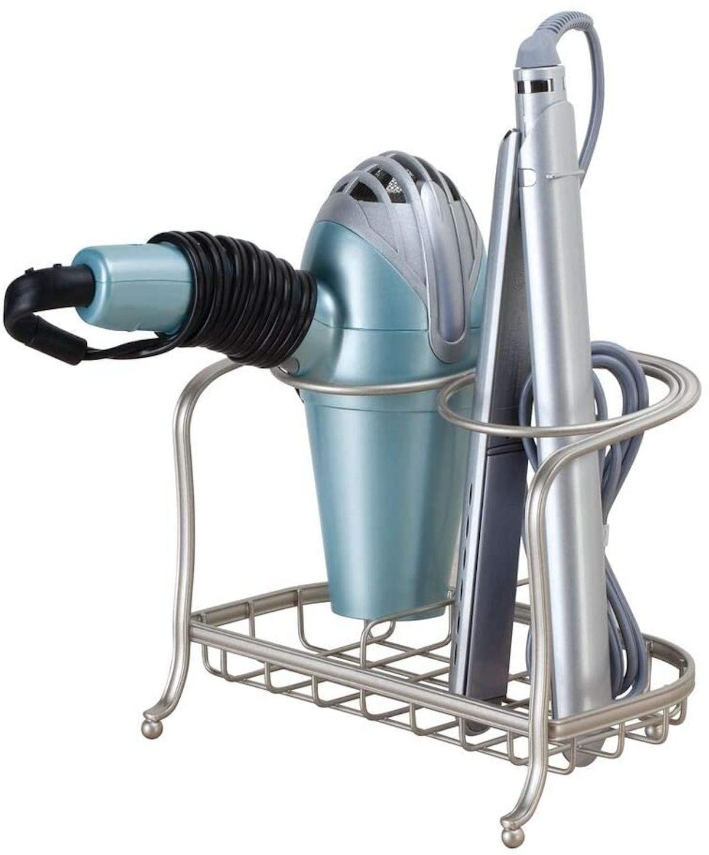mDesign Metal Countertop Hair Care & Styling Tool Organizer