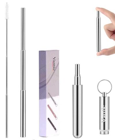 Vantic Reusable Metal Straws