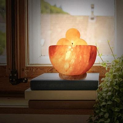 Himalayan Glow Salt lamp with Massage Ball