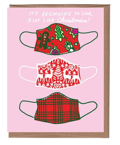 Christmas Masks Holiday Card