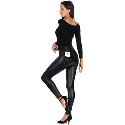 MCEDAR Faux Leather Leggings
