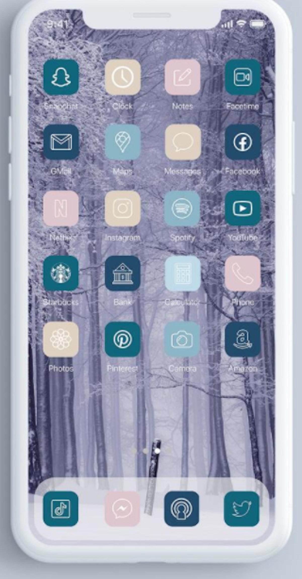 Winter Walk iOS 14 Home Screen Design Pack