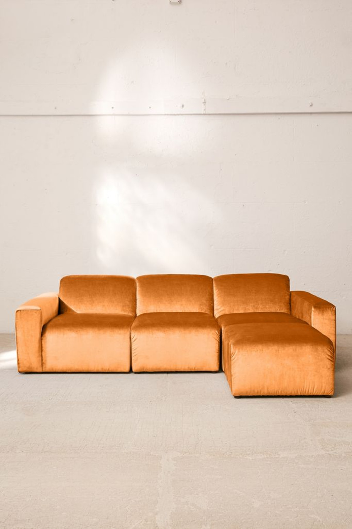 Modular Velvet Sofa