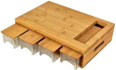 HOSIUN Food Prep Bamboo Cutting Board