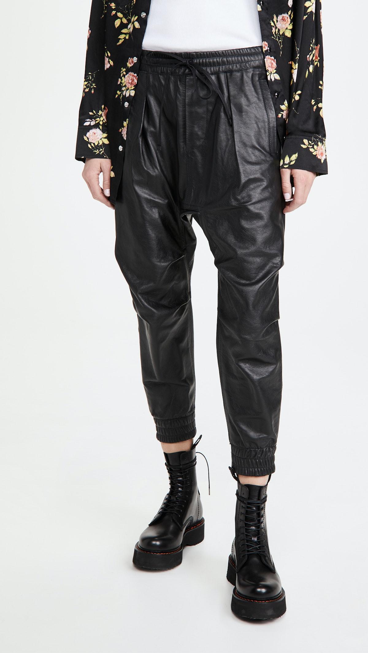 Leather Harem Pants