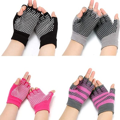 HaveDream Non-Slip Yoga Gloves (4 Pairs)