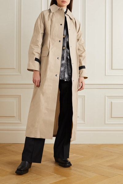 Original Coated-Cotton Trench Coat
