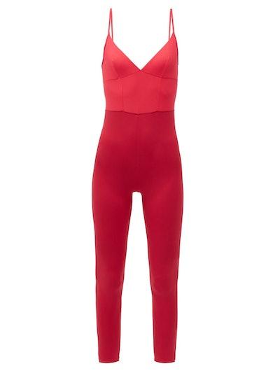 Ilona V-Neck Jersey Jumpsuit