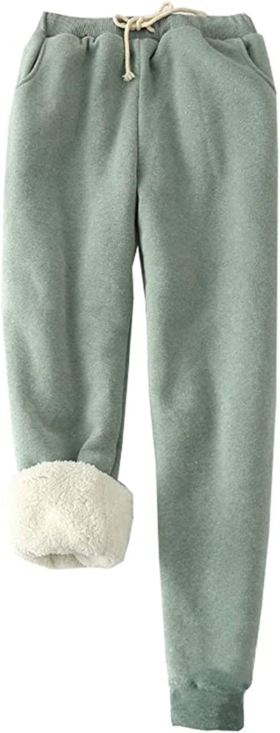 FACDIBY Sherpa-Lined Sweatpants