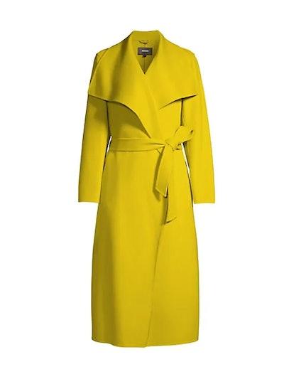 Mai Asymmetrical Wool Coat