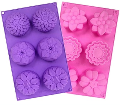 YGEOMER Silicone Flower Mold (2-Pack)