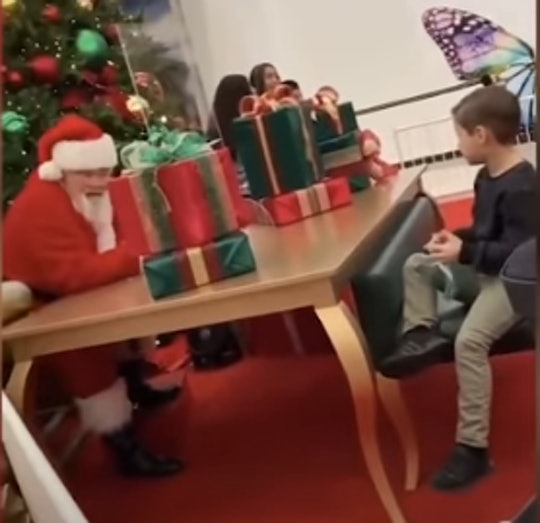 A mall Santa refused to give a little boy a Nerf gun for Christmas.