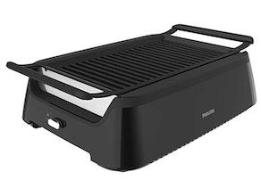 Philips Kitchen Appliances HD6371/98 Premium Smokeless Electric Indoor Grill plus Bonus Cleaning Tool, 2.3, Black