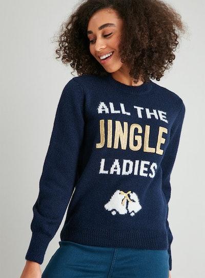 Christmas Navy Jingle Jumper