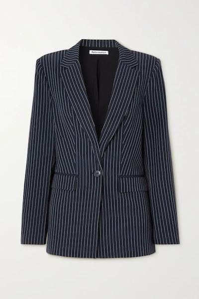 Dama pinstripe cady blazer