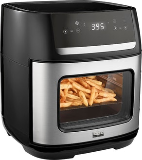 Bella Pro Series - 4-Slice Convection Toaster Oven + Air Fryer with Dehydrator & Rotisserie Settings - Stainless Steel