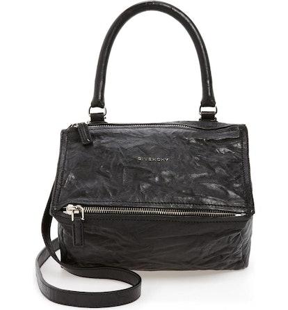 Small Pepe Pandora Leather Shoulder Bag
