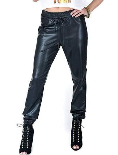 SOHO GLAM Faux Leather Joggers