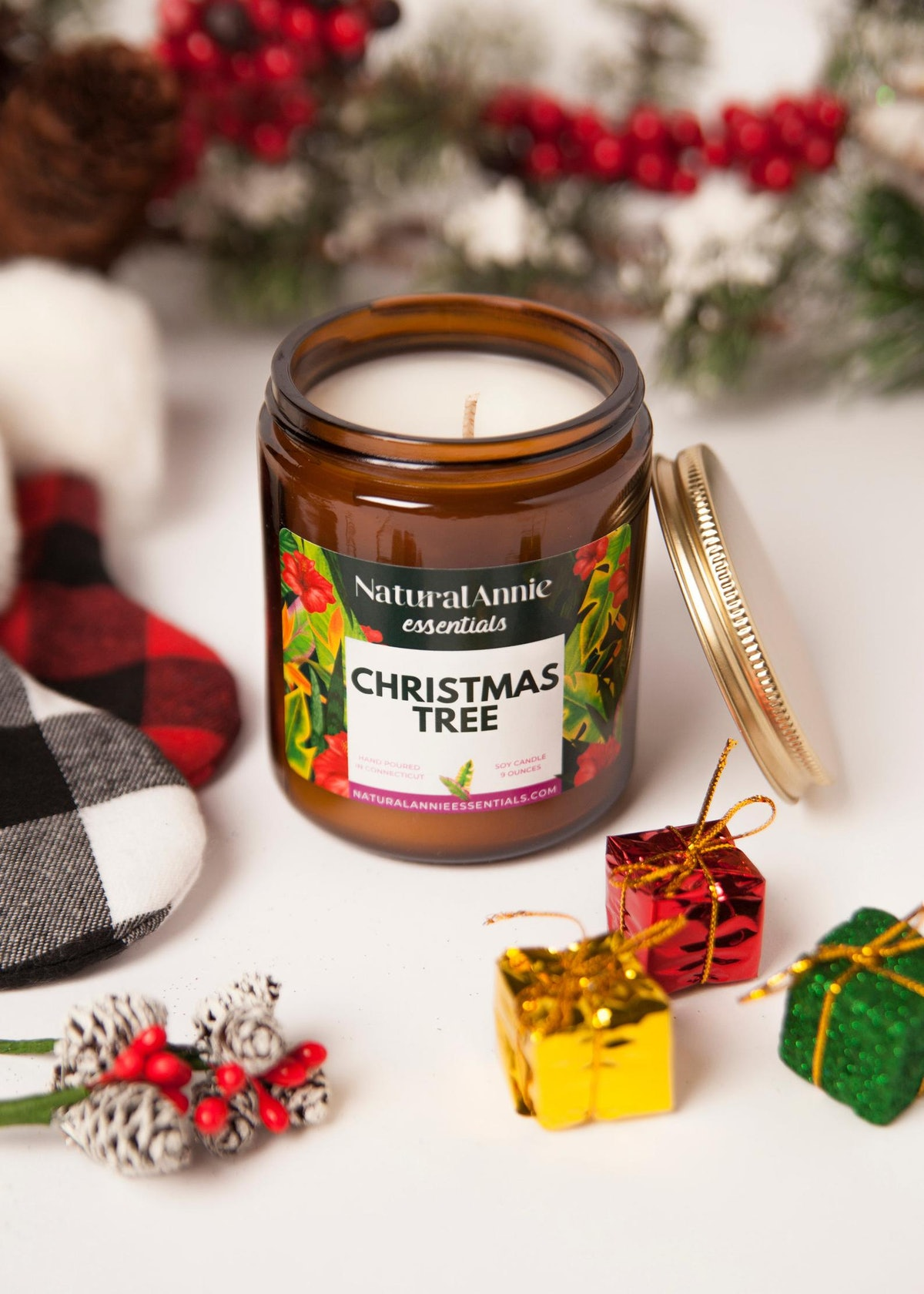 Christmas Tree Hand Poured Scented Soy Candle