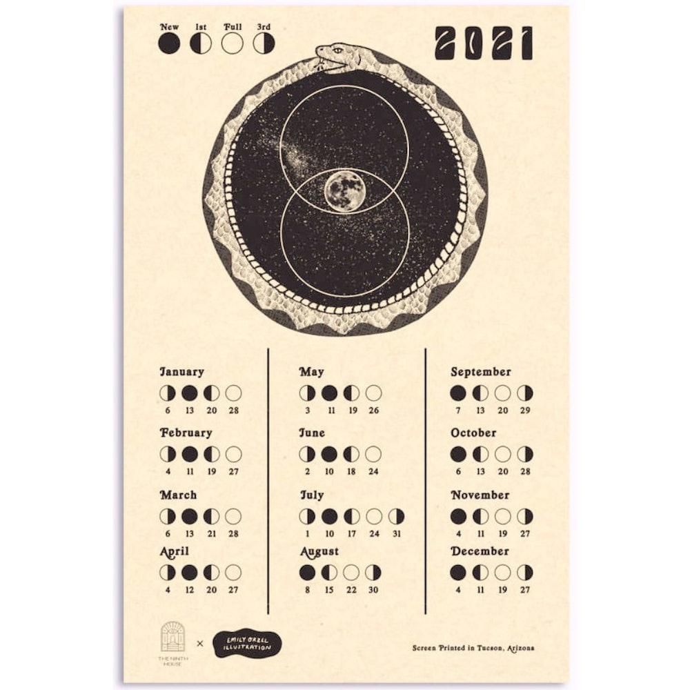2021 Moon Calendar by Emily Orzel