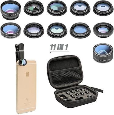 Mocalaca 11-Piece Phone Camera Lens Kit