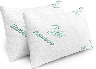 PLX Shredded Memory Foam Bed Pillows (2-Pack)