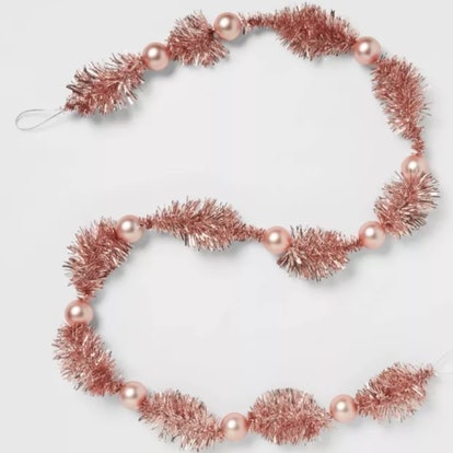 "72"" Christmas Decorative Tinsel Garland Pink - Threshold™"