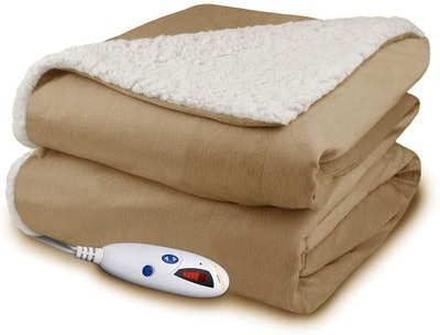 Pure Warmth Electric Heated Throw Blanket