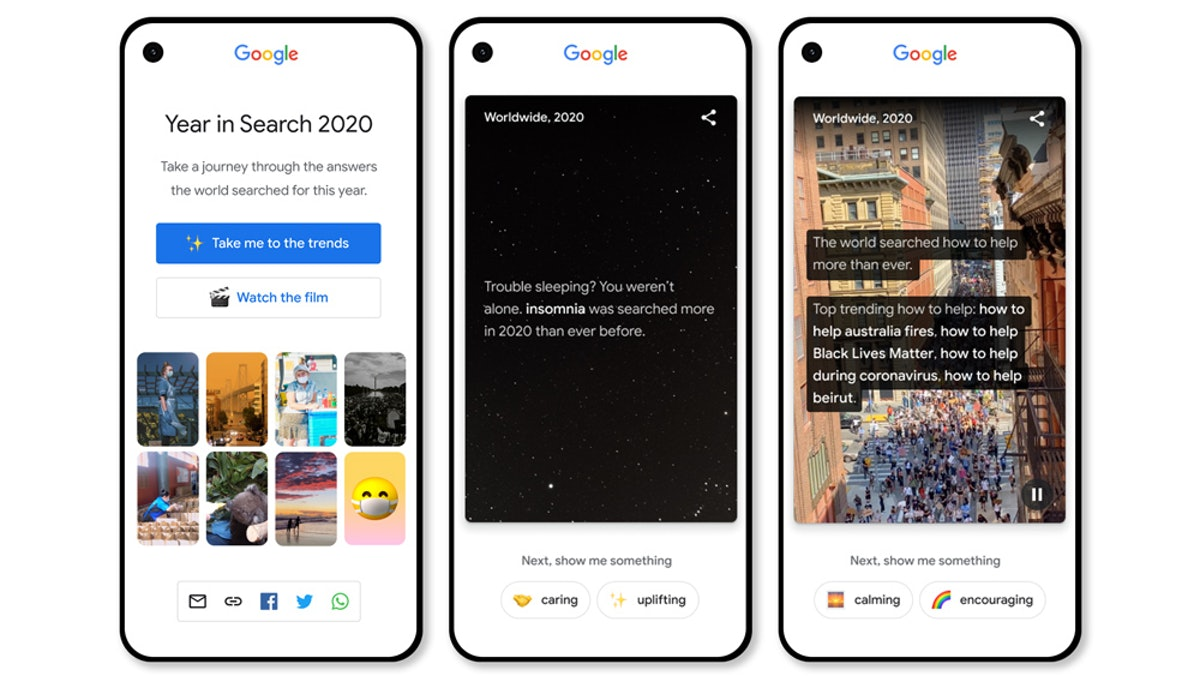Google's Year in Search 2020 feature now has a trends update.