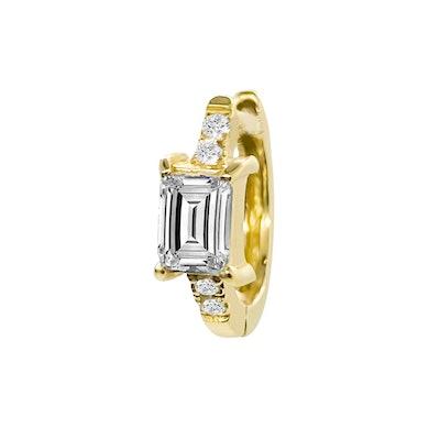 Diamond Baguette Huggie Earring